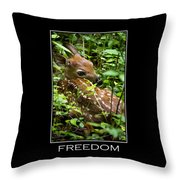 Freedom Inspirational Motivational Poster Art Throw Pillow by Christina Rollo