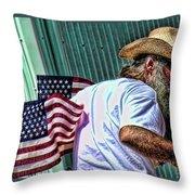 Freedom Man Throw Pillow