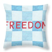 Freedom Patchwork Throw Pillow by Linda Woods