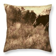 Freedom Run After Rescue Throw Pillow