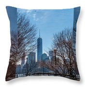 Freedom Tower Framed Throw Pillow