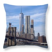 Freedom Tower I I Throw Pillow