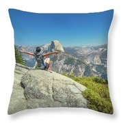 Freedom Woman At Glacier Point Throw Pillow