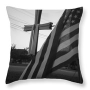 Freedoms Throw Pillow