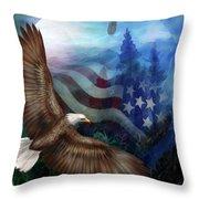 Freedom's Flight Throw Pillow