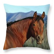 Freedom's Glance Throw Pillow
