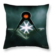 Freemason Symbol By Raphael Terra Throw Pillow