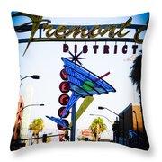 Fremont Street Throw Pillow