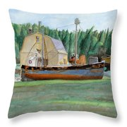 Freeport Fishing Boat Throw Pillow