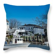Freeport New York Bound For The Bay Throw Pillow