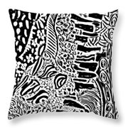Freestyle 3 Abstract Throw Pillow