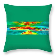 Freestyle Abstract Throw Pillow