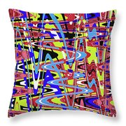 Freeway Of Colors Abstract Throw Pillow