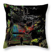 Freeway Park Steps Throw Pillow