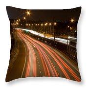 Freeway Streakers Throw Pillow