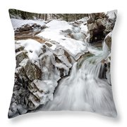 Freeze On The Basin Trail Nh Throw Pillow