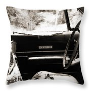 Freezing Fury Throw Pillow