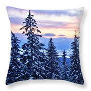 Freezing Sunset 14 Throw Pillow