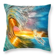 Freezing The Moment Throw Pillow