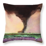 Freight Train A Comin Throw Pillow