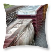 Freight Train Abstract Throw Pillow