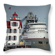 Freighter  Throw Pillow