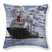 Freighter Inviken Throw Pillow