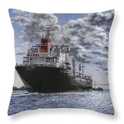 Freighter Inviken Throw Pillow
