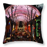 Fremont Street Throw Pillow
