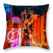 Fremont Street For One From The Heart Throw Pillow