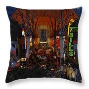 Fremont Street Nevada Throw Pillow