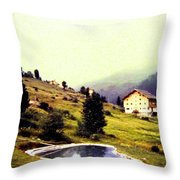 French Alps 1955 Throw Pillow