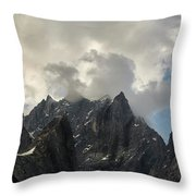 French Alps Peaks Throw Pillow