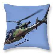 French Army Gazelle Helicopter Throw Pillow