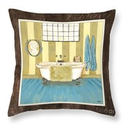 French Bath 2 Throw Pillow
