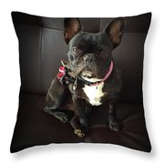 French Bulldog On The Couch Throw Pillow