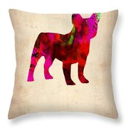 French Bulldog Poster Throw Pillow by Naxart Studio