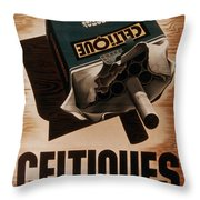 French Cigarette Ad, 1934 Throw Pillow