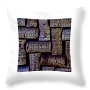 French Corks Throw Pillow