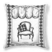 French Country Fauteuil Throw Pillow