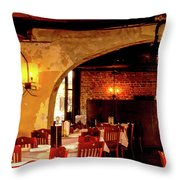 French Country Restaurant Throw Pillow