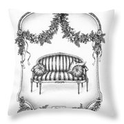 French Country Sofa Throw Pillow