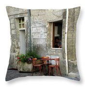 French Countryside Corner Throw Pillow