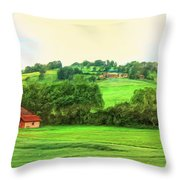 French Countryside Throw Pillow