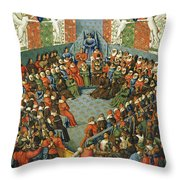French Court, 1458 Throw Pillow