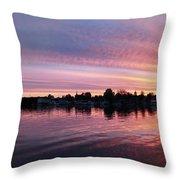 French Creek Sunrise Throw Pillow