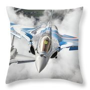 French Dassault Rafale Formation 1 Throw Pillow