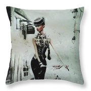 French District Throw Pillow