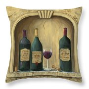 French Estate Wine Collection Throw Pillow