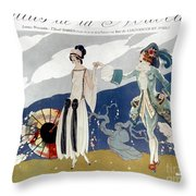 French Fashion Ad, 1923 Throw Pillow